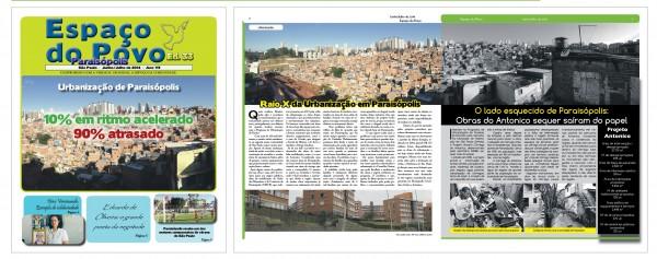 Em 2014 o jornal Espaço do Povo já alertava quanto a paralização das obras de urbanização