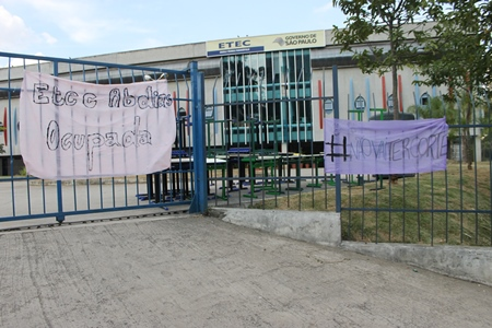 ETEC Paraisópolis foi a última a ser desocupada (Foto: Francisca Rodrigues)